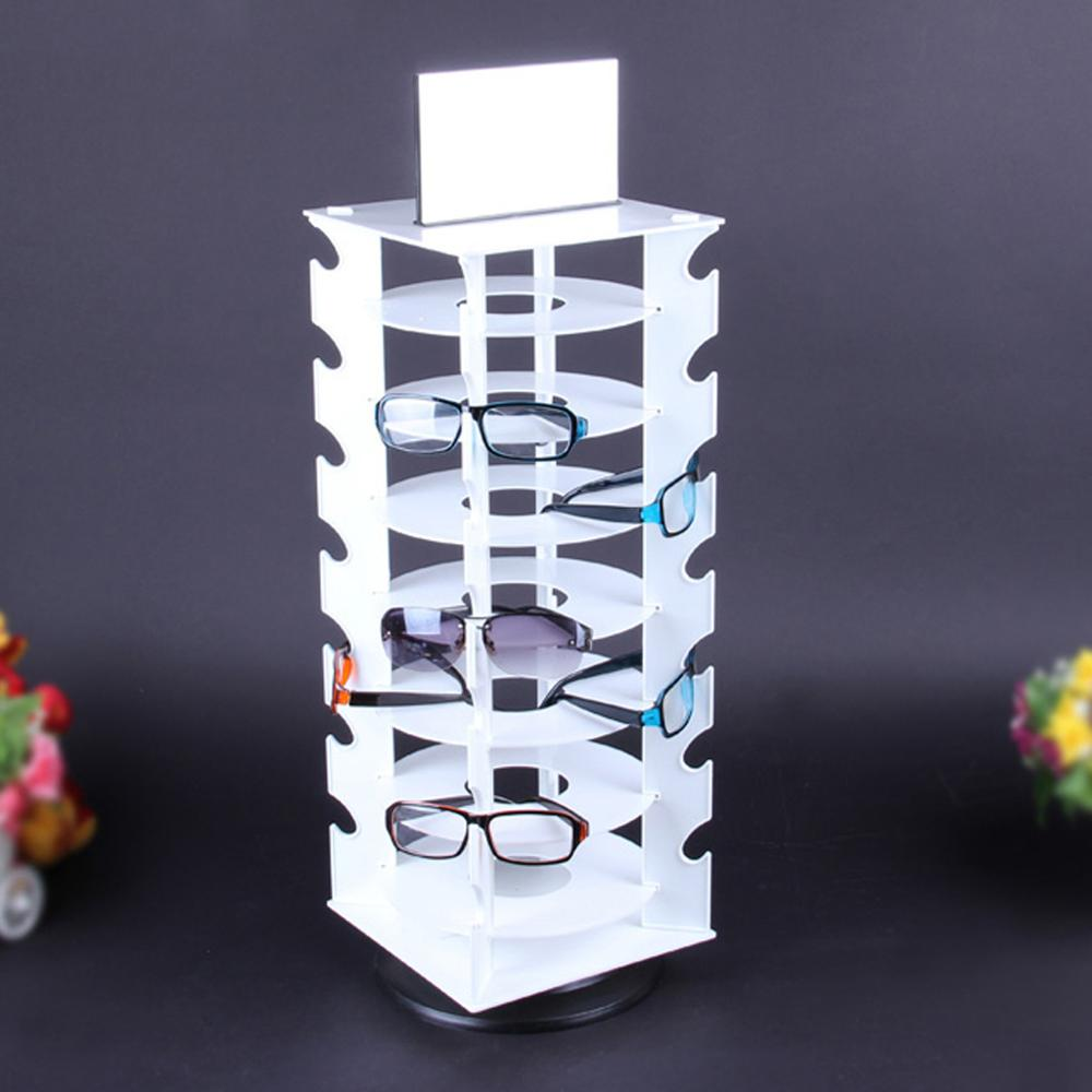 Rotating Sunglasses Holder Rack Glasses Display Stand, Holds 28 Pairs Glasses