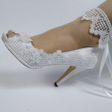 2020 New Arrival Lace-Up fashion shoes woman White Flower Wedding Brideals shoe Ankle Strap Lace-Up High shoes sweet party shoe mycolen 2018 new arrival fashion leisure white shoes men sneaker shoes lace up cross strap shoe breathable calzado hombre