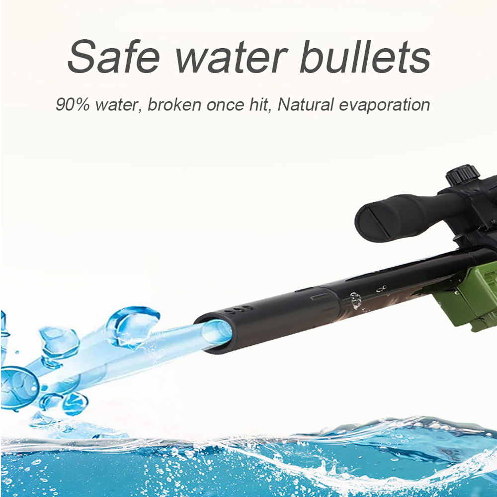 Kids Plastic Toys Gun for Children 98K AWM Rifle 40cm Water Paintball Bullets Gun Boys Sniper Manual Loading Cool Shooting Gun 2