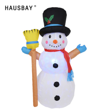 цены 1.2M Christmas Inflatable Snowman Led Light Inflatable Model Creative Xmas Decorations Supplies Snowman Doll Home Decor X021