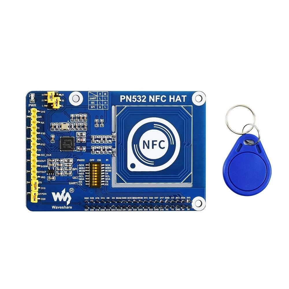 Waveshare PN532 NFC HAT For Raspberry Pi I2C / SPI / UART Communication Interfaces 3.3V/5V