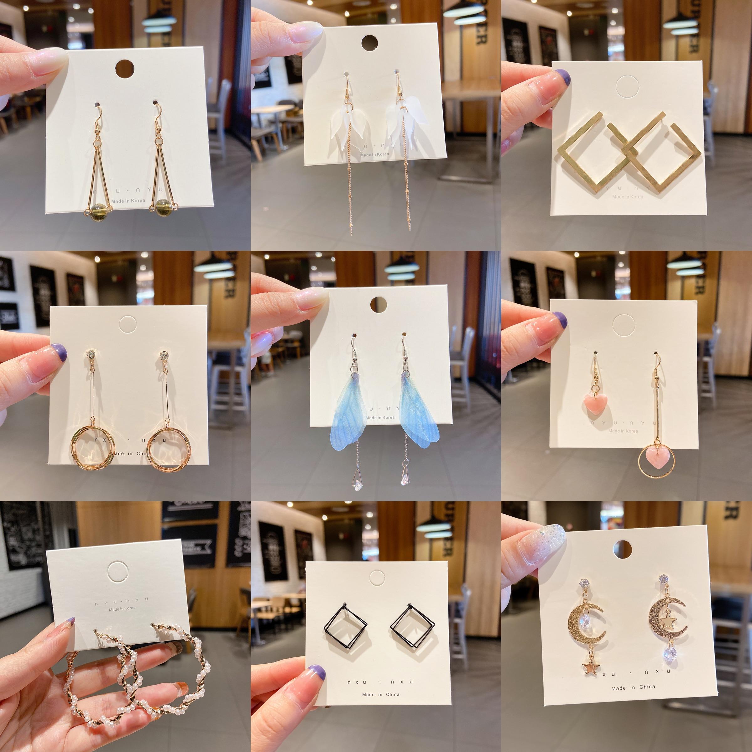 Jolorym novo coreano acrílico do vintage geométrico na moda bonito moda balançar brincos de gota para a mulher menina festa de casamento jóias