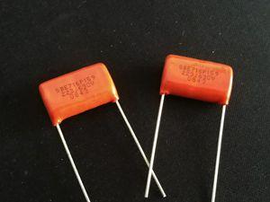 Image 1 - 10PCS CDE SPRAGUE CDE716P 630V0.022UF P19MM Orange fever film capacitor MKP SBE 716P 0.022UF 630V 22NF 223/630V