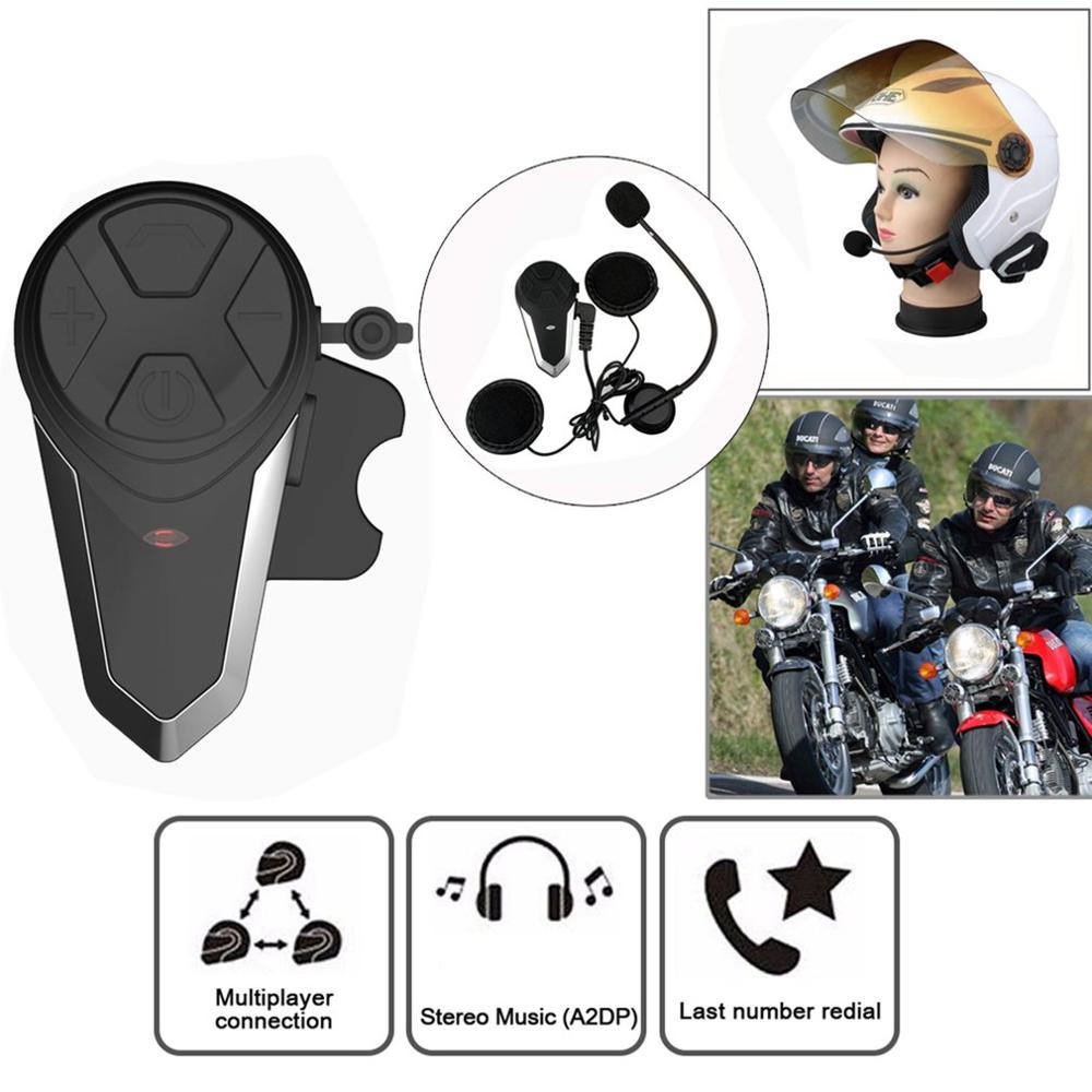 BT-S3 1000M Motorcycle BT Interphone Motorbike Helmet Wireless Intercom FM Headset Portable Mini Interphone