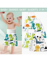 2 in 1 Comfy Baby Diaper Skirt Pure Cotton High Waist Waterproof Shorts Pants H3CD(China)