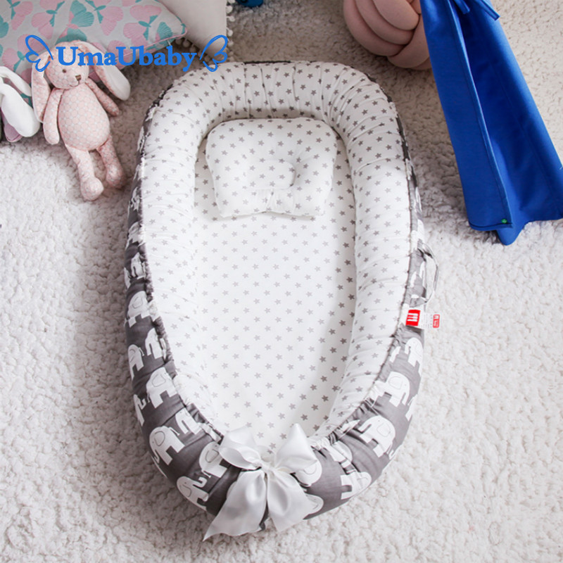 Baby Crib 80 * 50cm Portable Child Soft Baby Cradle Cotton Comfortable Flat Lay Travel Essential Special Price