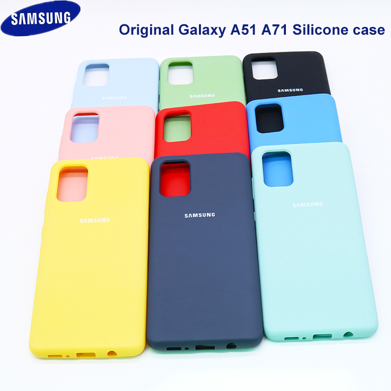 A51 A71 Case Original Galaxy A51 A71 Silky Silicone Cover High Quality Soft-Touch Back Protective Galaxy A51 A71