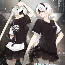 T-Shirt Anime Nier:automata Short-Sleeve Round-Neck Summer No Casual No.-2-Type Tops