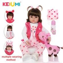 KEIUMI Baby Reborn Real Menina, мягкие силиконовые куклы Reborn Baby, подарки на день рождения, модные мягкие куклы, игрушки с жирафом, Playmate