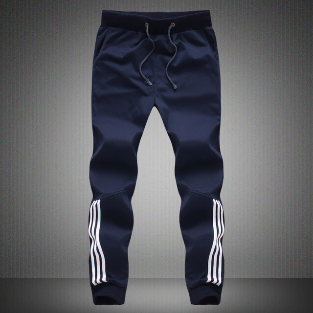 Spring Summer Mens Pants Fashion Skinny Sweatpants Mens Joggers Striped Slim Fitted Pants Gyms Clothing Plus Size 5XL Harem Pant 48