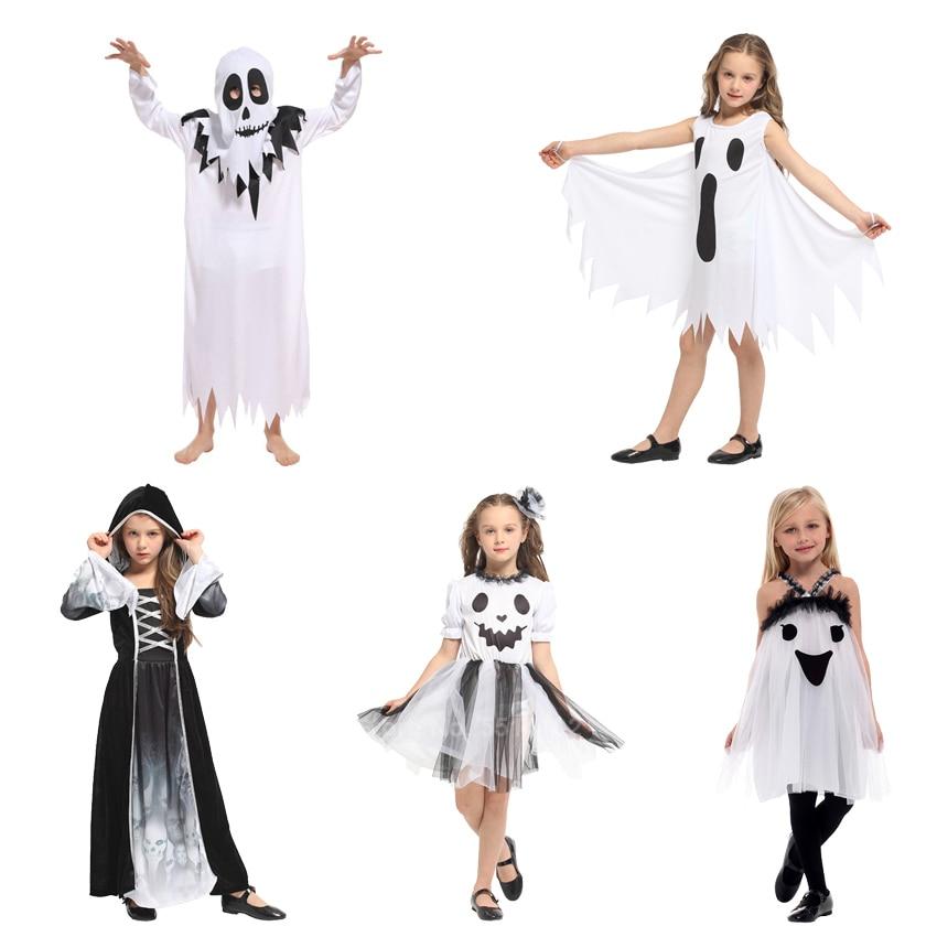 Children Boys Girls Human Skeleton Cosplay Fancy Dress Costume Jumpsuit Hat Set