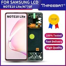 Nowy Super AMOLED do Samsung Galaxy Note 10 lite Lcd N770F z ramką wyświetlacz ekran dotykowy Digitizer do note10 lite LCD