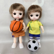 New 1/12 BJD 13 Joint Movable 16 Cm Doll Cute Sport Boy with Accessories Fashion Dress Up Doll Clothes Set Girl DIY Toy Gift