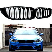 For BMW 4 Series F32 F33 F36 420i 428i 435i M4 2pcs Car Front Grilles Black High Quality ABS Replacement Kidney Grille