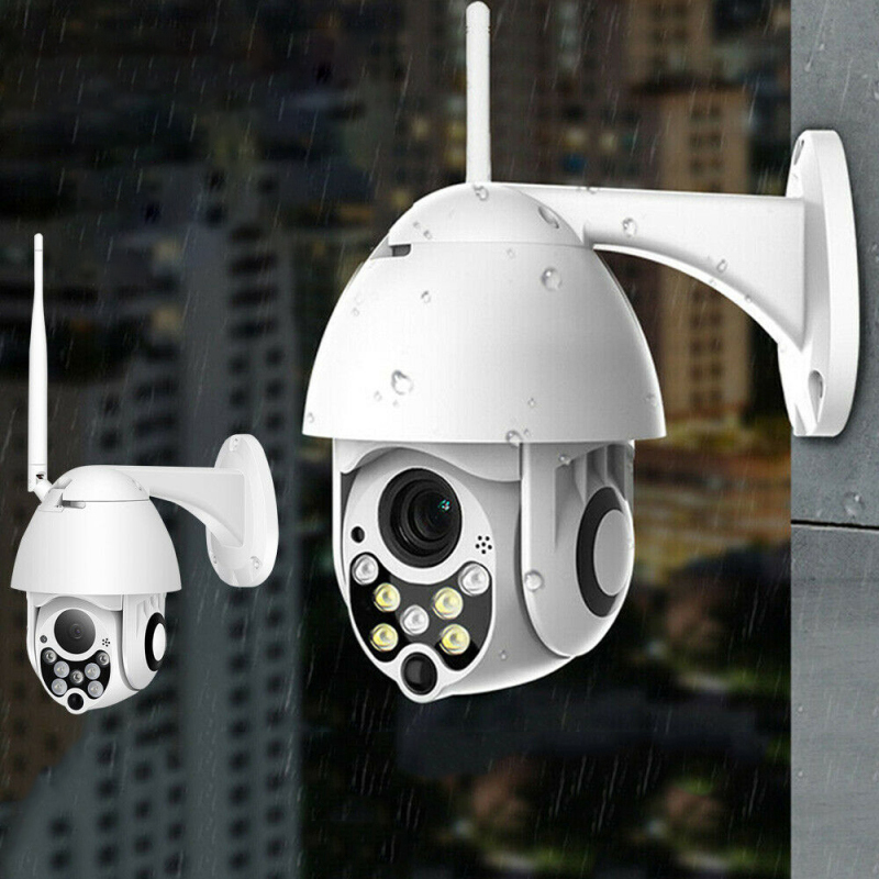Neng Auto Tracking Outdoor PTZ IP Camera HD 1080P Speed Dome Surveillance Cameras Waterproof Wireless WiFi Security CCTV Camera