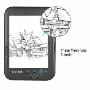 Image 5 - 6 Cal 4GB czytnik ebooków e ink pojemnościowy E lampka do czytania ekran Eink E Book e ink e czytnik MP3 z etui, WMA PDF HTML