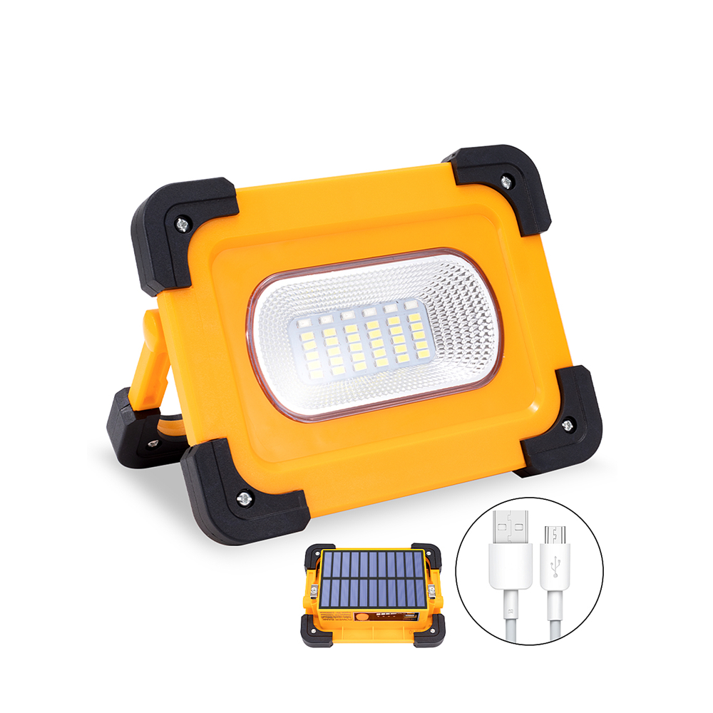 Solar LED Work Light USB Rechargeable Portable Solar Light Magnet Flood Lights For Outdoor Camping Fishing Hiking