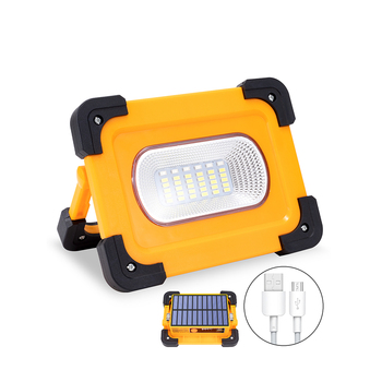 цена на Solar LED Work Light USB Rechargeable Portable Solar Light Magnet Flood Lights for Outdoor Camping Fishing Hiking