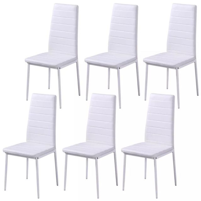 Seven Piece Dining Table and Chair Set Black and White 3
