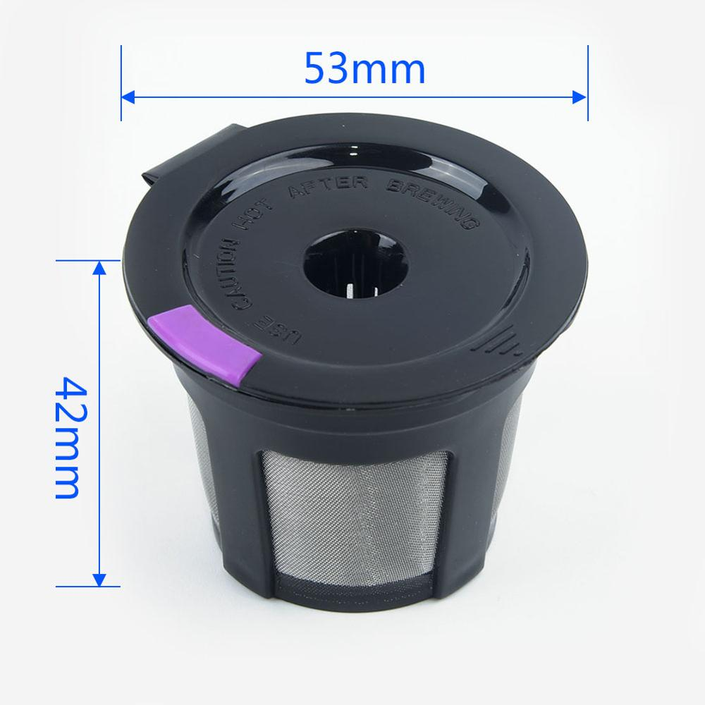 Refillable Reusable Coffee Capsule Filter Cup Pod For Keurig K-Cups Mini Plus Brush Filter Baskets Brush Kitchen Accessories
