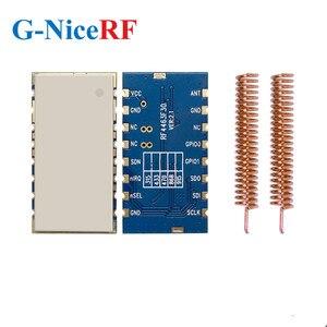 Image 1 - 2 adet/grup RF4463F30 1W 30dBm Si4463 çip 433MHz gömülü FSK kablosuz RF modülü