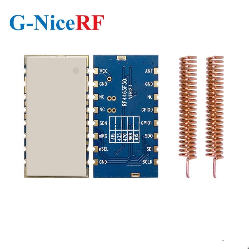 2PCS/Lot RF4463F30 1W 30dBm Si4463 Chip 433MHz Embedded FSK Wireless RF Module