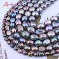 5-7,8-9,9-10,10-11 мм, Пресноводный Жемчуг, черный, свободная форма, искусственные бусины для самостоятельного изготовления ожерелья, браслета, юве...