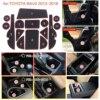 15pcs for Toyota RAV4 2013-2018 Anti-Slip Gate Slot Mat Rubber Coaster Accessories for RAV 4 2013 2014 2015 2016 2017 2018 review