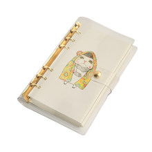 Rose Gold Binder Transparent PVC Book Cover A6 Loose Leaf Notebook And Journals Gold Color Also Available