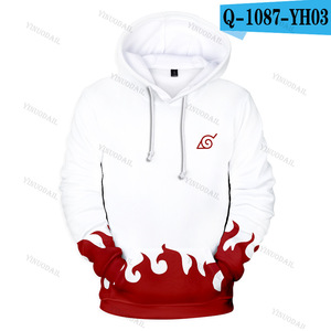 Image 2 - Naruto Hoodies Uchiha Syaringan Hooded Boys Uzumaki Naruto Pullover Men/women Cartoon Printed Clothes