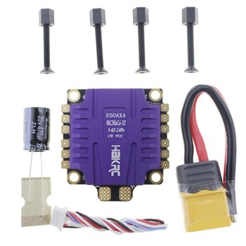 HAKRC ESC 4-In-1 50A 3-6S BLHeli_32 5V 3A BEC Dshot1200 Mini Size ESC for DIY FPV Racing Drone With Heat Dissipation фото