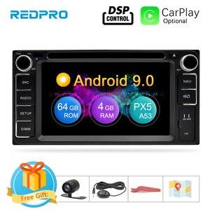 Image 1 - אוניברסלי אנדרואיד 9.0 DVD GPS ניווט רדיו וידאו נגן סטריאו 4G RAM + 64G ROM 2 דין Wifi bluetooth headunit מולטימדיה לרכב
