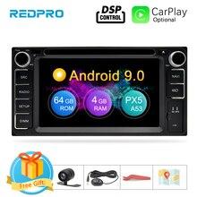 Autoradio Android 9.0, DVD, Navigation GPS, 4 go RAM, 64 go ROM, lecteur vidéo, stéréo, avec Wifi, Bluetooth, unité centrale universelle, pour voiture