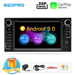 Image 1 - Universal Android 9.0 DVD GPS Navigation Radio Video Player Stereo 4G RAM+64G ROM 2 Din Wifi Bluetooth headunit Car Multimedia