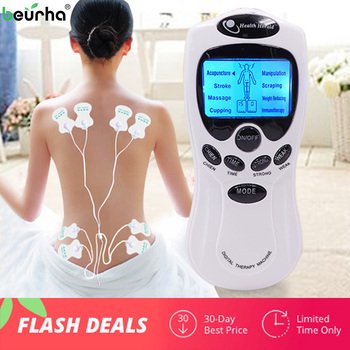 8 models Russian manual Electric herald Tens Acupuncture Body Massage Digital Therapy Machine For Back Neck Foot Leg health Care