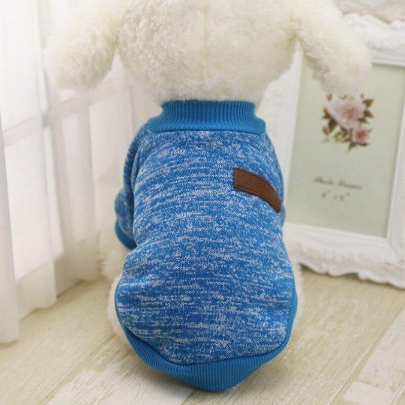 Одежда для собак, теплый свитер, мягкая куртка для чихуахуа, одежда для собак, одежда для щенков, куртка для собаки, зимняя одежда для маленьких собак - Цвет: Blue