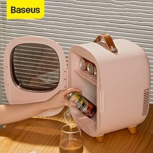 Baseus 8L Морозильный холодильник с подогревом для дома автомобиля 2 способа зарядки 220 В/12 в 60 Вт портативный холодильник с подогревом для путеш...