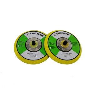 Image 4 - 5/6 인치 에어 샌더 자동차 폴리 셔 연마 디스크 연마 버핑 패드 배킹 플라스틱 배킹 패드 샌딩 플레이트
