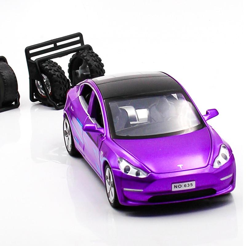 Diecat Tesla Model 3 Boys Toys Metal