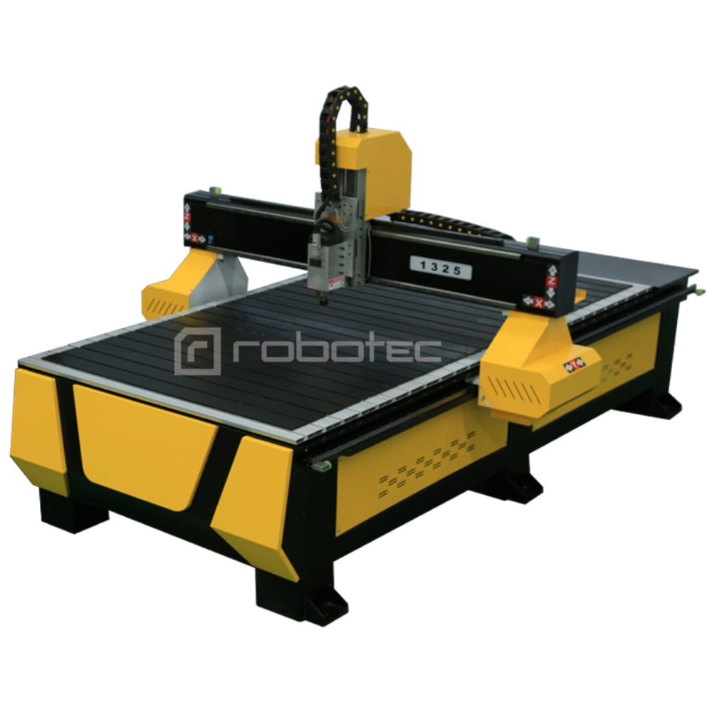 Mach3 Control System With USB CNC Router With Rotary Device, 1300*2500*200mm Bed CNC Machinery 3kw Italy HSD Air Cooling Spindle