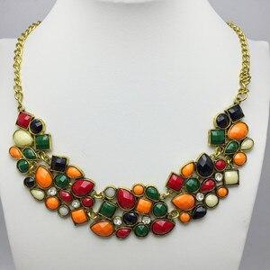 Винтажные богемные ожерелья-чокер, женские акриловые ожерелья и многослойные бусы, ожерелье, этнические украшения для женщин