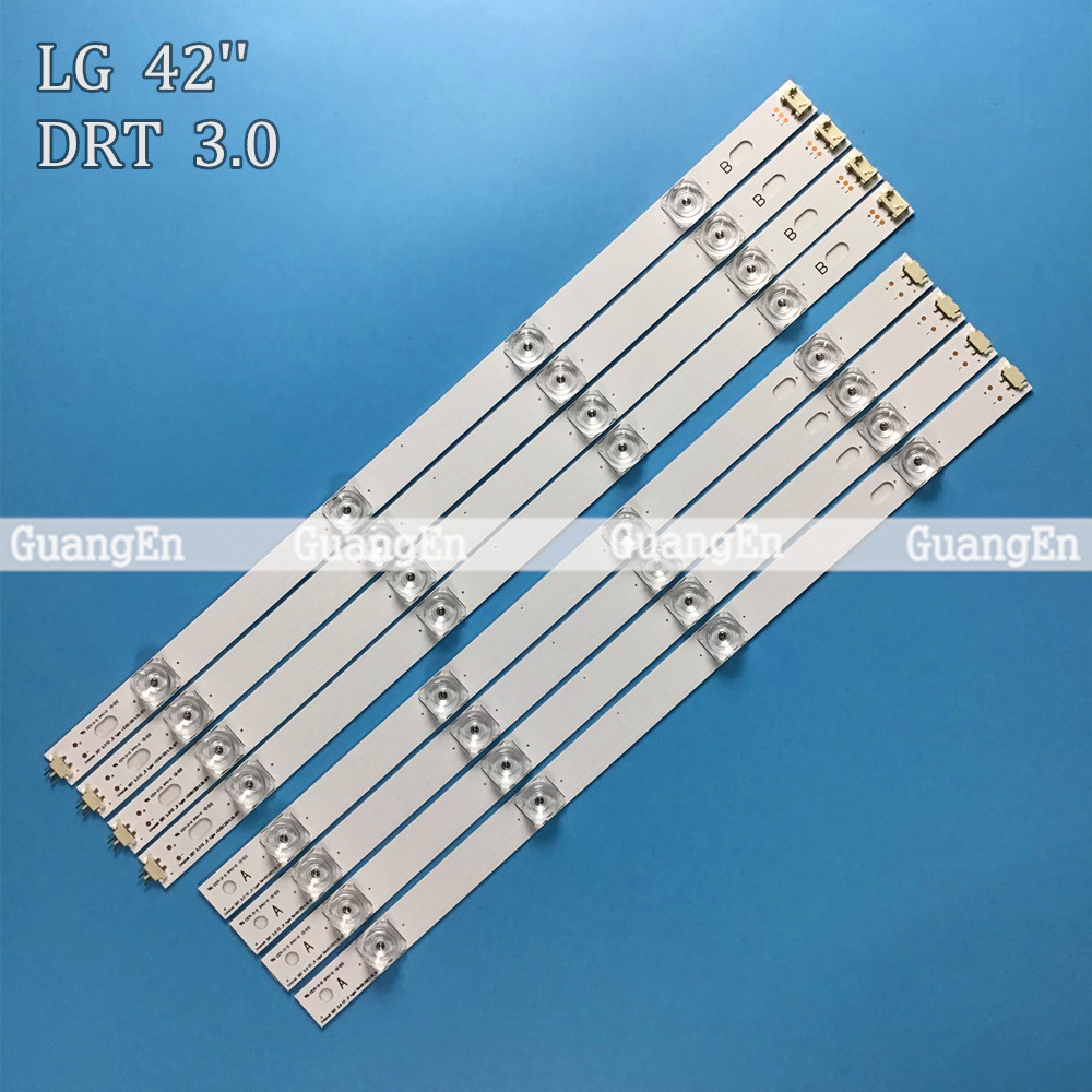 8 PCS(4*A,4*B)825mm 8 LED Strip For LG INNOTEK DRT 3.0 42