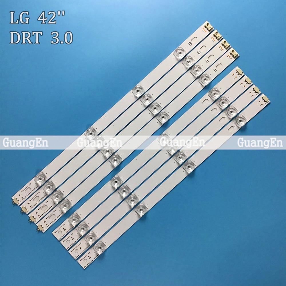 8 PCS(4*A,4*B)825mm 8 LED Strip For LG INNOTEK DRT 3.0 42