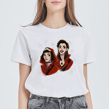 La Casa De Papel T-shirt papier haus spaß design top sommer t-shirt Geld Heist Tees TV drama damen kurzarm(China)
