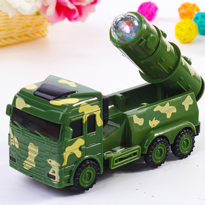 Children Gift Missile Toy Car Night Market Stall Supply Of Goods Hot Selling Music Shining Universal Wheel E-Bike