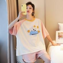 Caiyier High Quality Cute Sesame Street Pajamas Set Cotton O