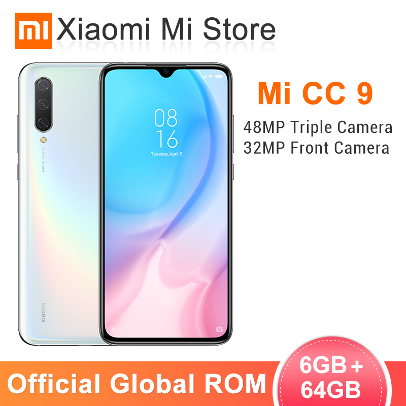 In Stock Global ROM Xiaomi Mi CC9 6GB 64GB Mobile Phone CC 9 Snapdragon 710 6.39