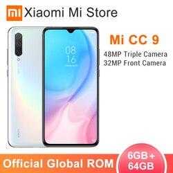 В наличии глобальная ПЗУ Xiaomi Mi CC9 6GB 64GB мобильный телефон CC 9 Snapdragon 710 6,39