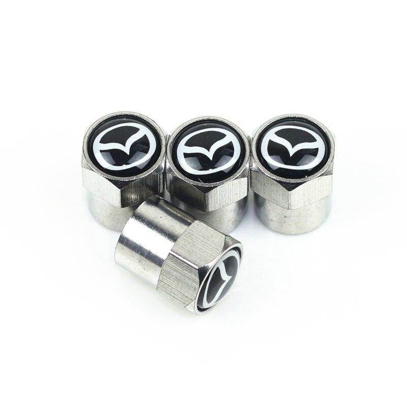 Auto Emblem Metal Cap Case For Mazda 2 Mazda 3 MS For Mazda 6 CX-5 CX5 Car-Styling Badge Accessories 4pcs
