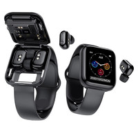 Reloj inteligente X5 TWS, con auriculares inalámbricos por Bluetooth, dos en uno, 1,54 pulgadas, llamadas, música, moda deportiva, Android e IOS